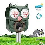 Katzenschreck Ultraschall Solar, Tiervertreiber mit Einstellbar Ultraschall Blitz Wasserdicht...